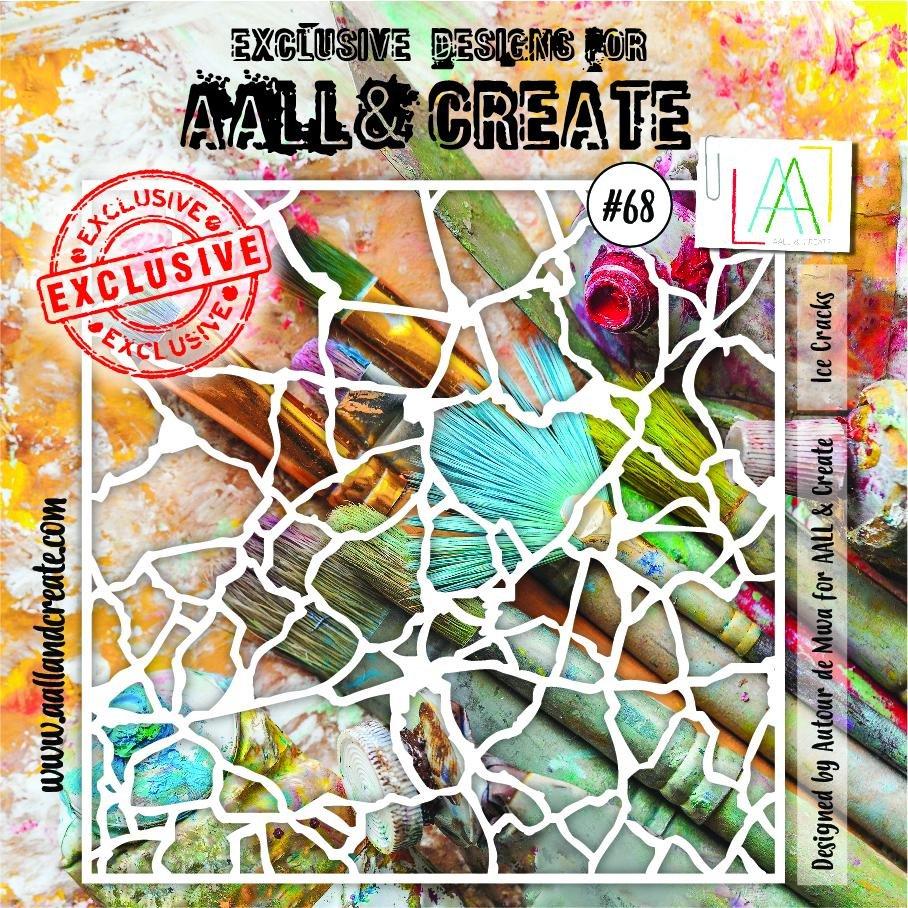 AALL & Create - Stencil - #68 Ice Cracks