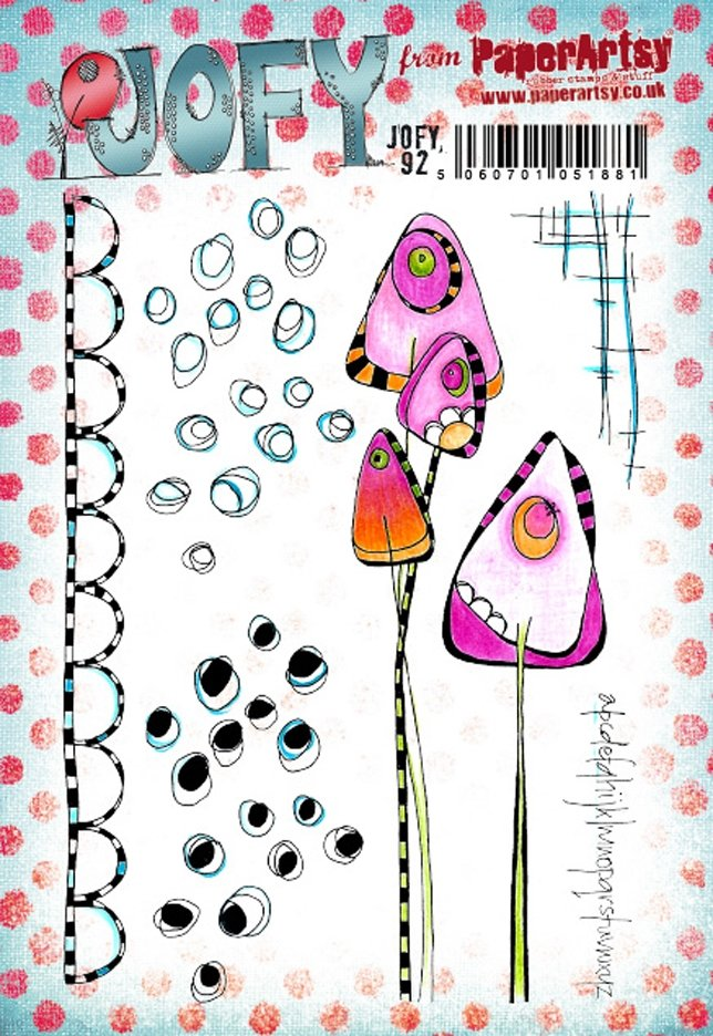 PaperArtsy - JOFY  92 - Rubber Cling Mounted Stamp Set