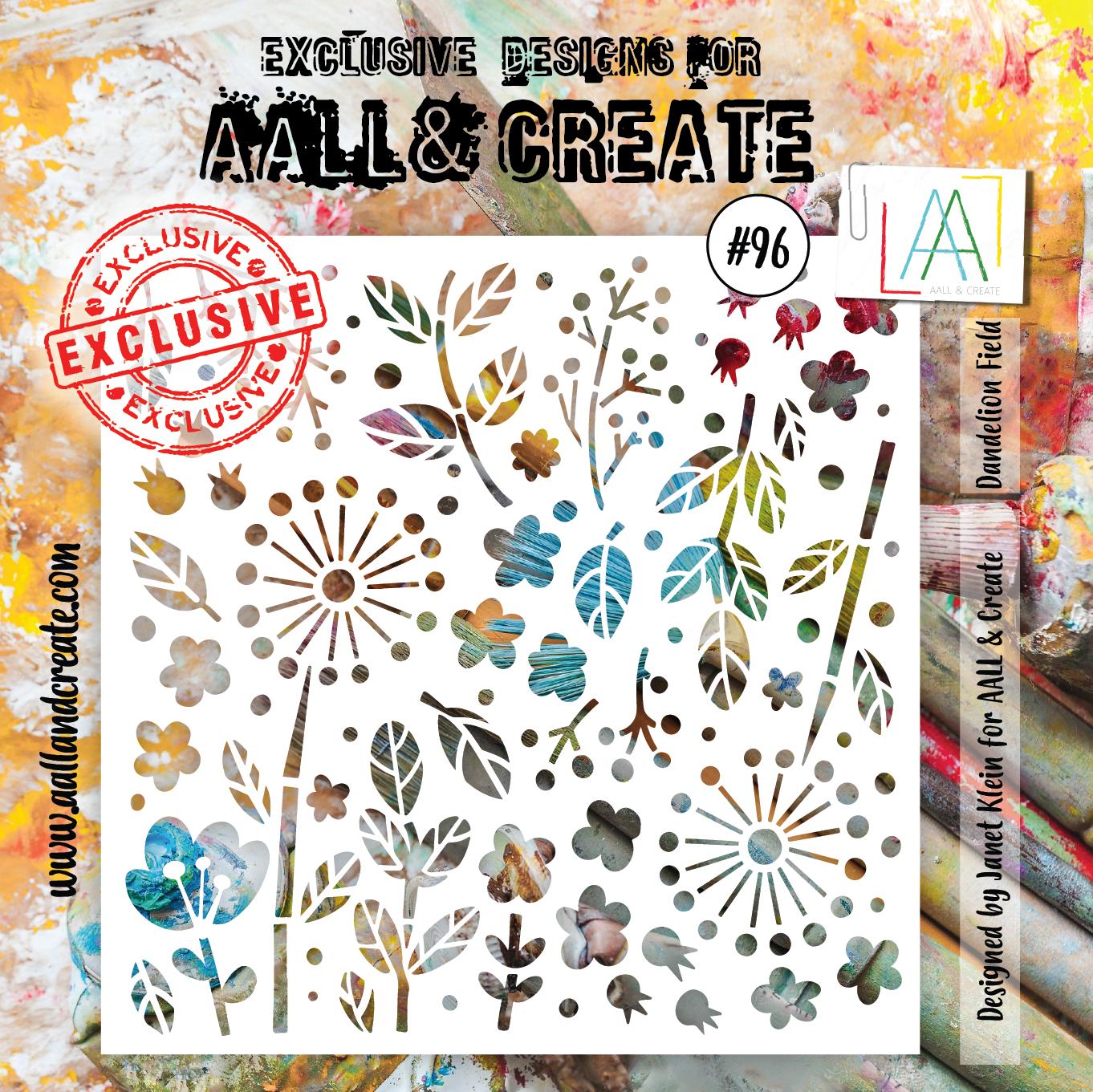 AALL & Create - Stencil - #96 Dandelion Field