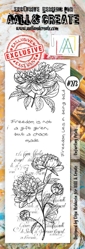 AALL & Create - Stamps - Border Stamp #273 Unfurling Petals