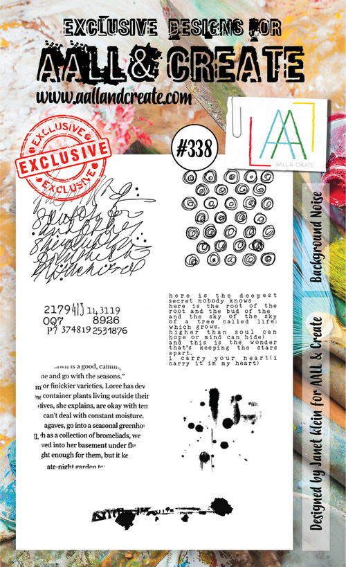 AALL & Create - Stamps - #338 Background Noise