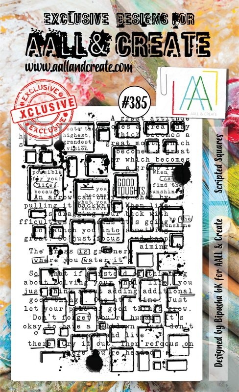 AALL & Create - Stamps - #385 Scripted Squares
