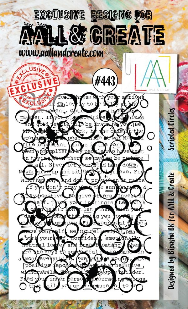 AALL & Create - Stamps - #443 Scripted Circles