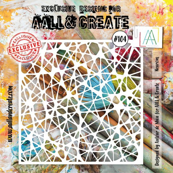 AALL & Create - Stencil - #104 Neurons