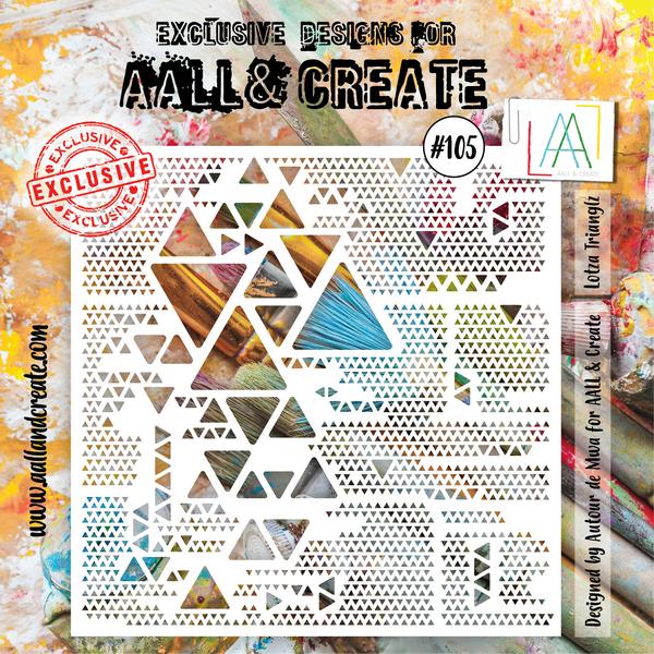 AALL & Create - Stencil - #105 Lotza Trianglz