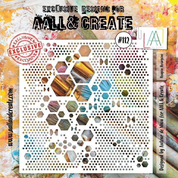 AALL & Create - Stencil - #112 Heapza Hexagonal