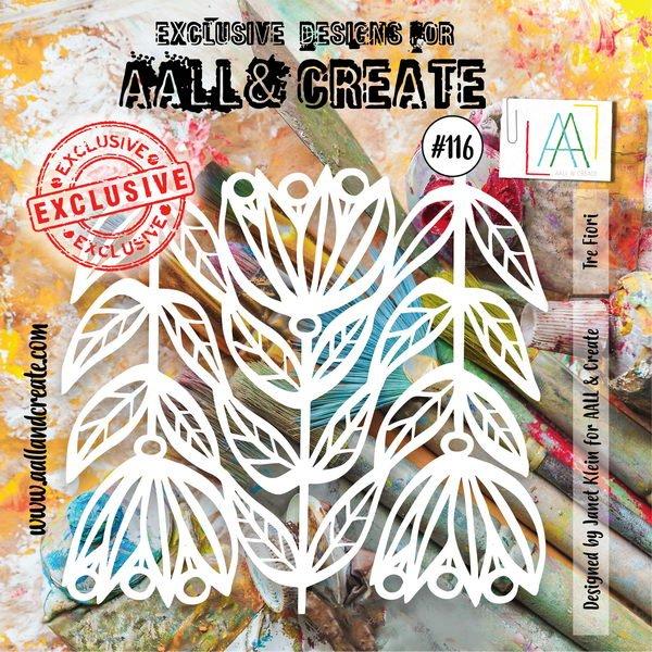 AALL & Create - Stencil - #116 Tre Fiori