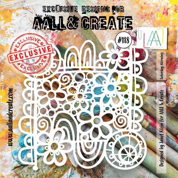 AALL & Create - Stencil - #118 Saturday morning