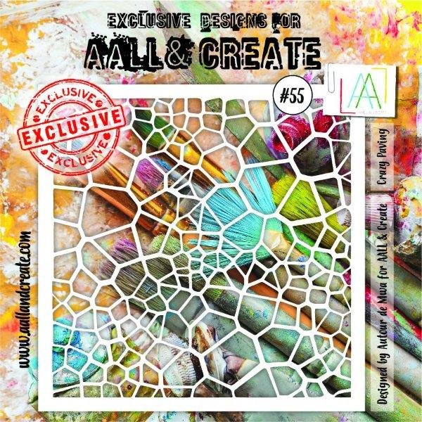 AALL & Create - Stencil - #55 Crazy Paving