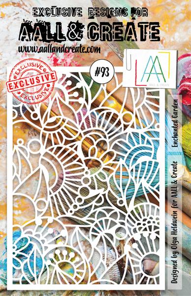 AALL & Create - Stencil - #93 Enchanted Garden A5
