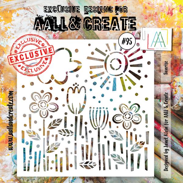 AALL & Create - Stencil - #95 Sunrise