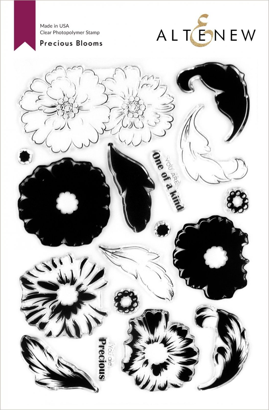 Altenew -  Clear Photopolymer Stamps -  Precious Blooms