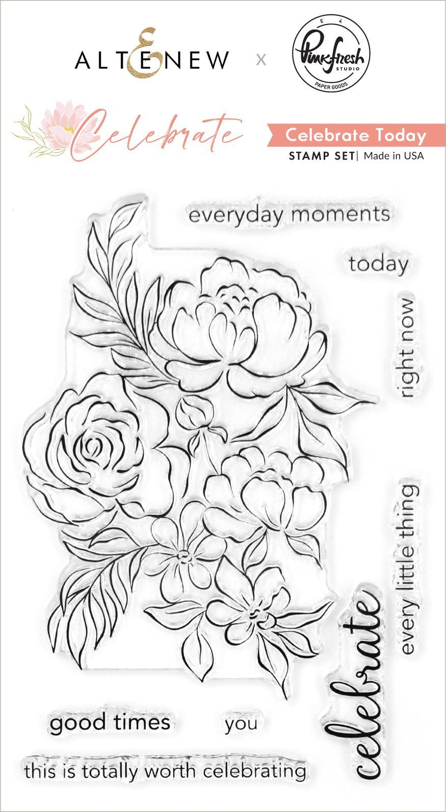 Altenew -  Clear Photopolymer Stamps -  Celebrate Today Stamp Set