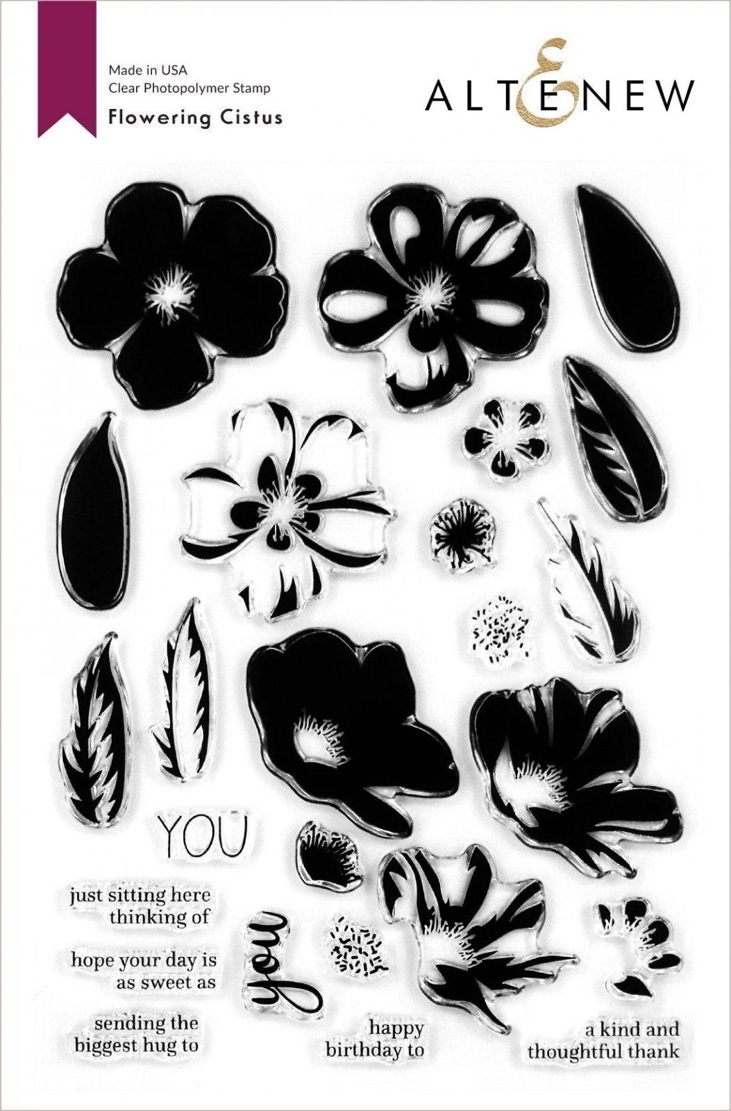 Altenew -  Clear Photopolymer Stamps -  Flowering Cistus Stamp Set