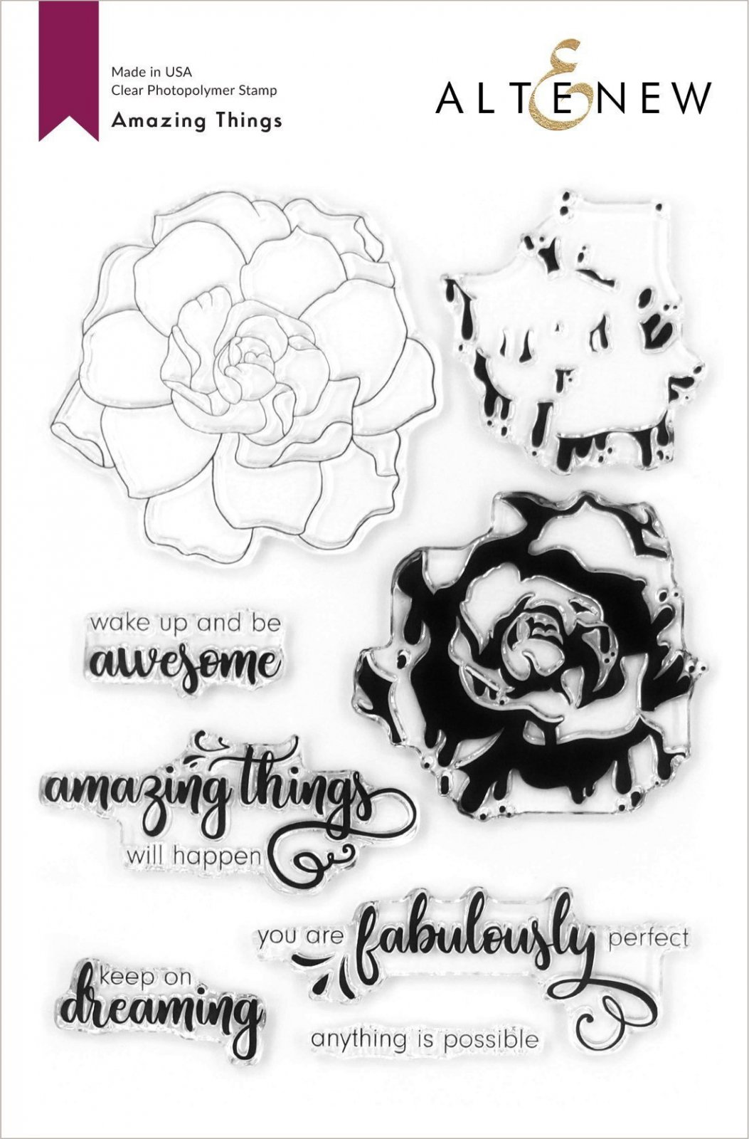 Altenew -  Clear Photopolymer Stamps -  Amazing Things Stamp Set