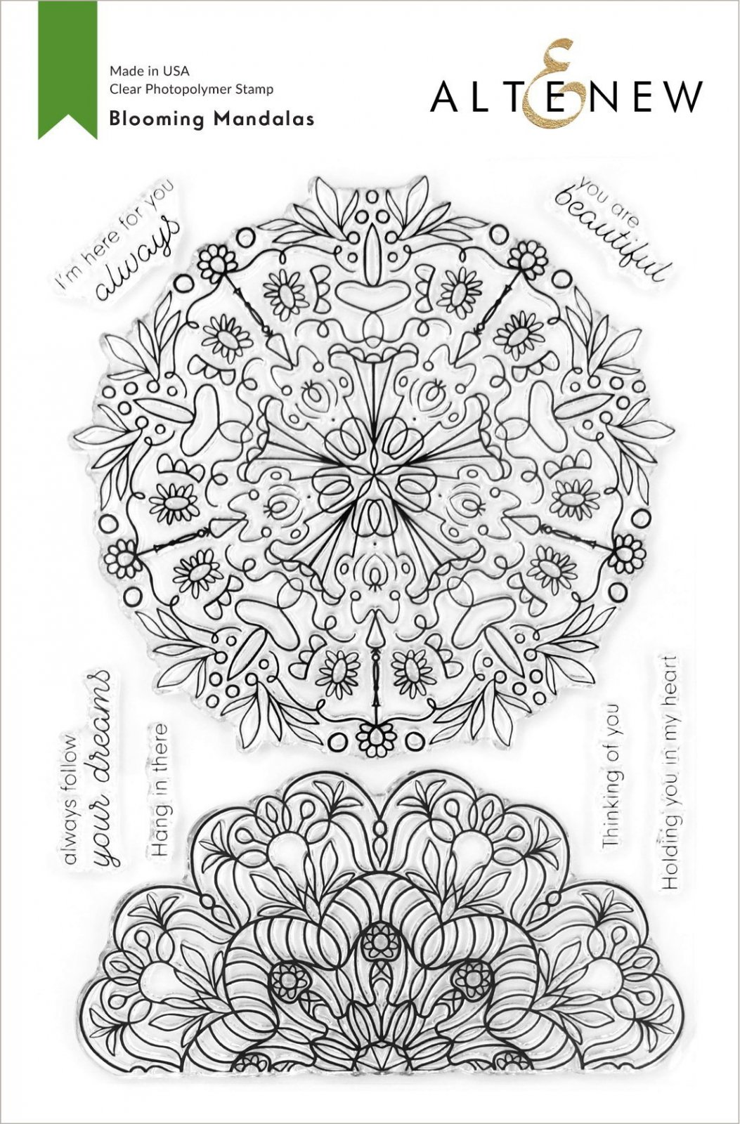 Altenew - Clear Photopolymer Stamps - Blooming Mandalas Stamp Set