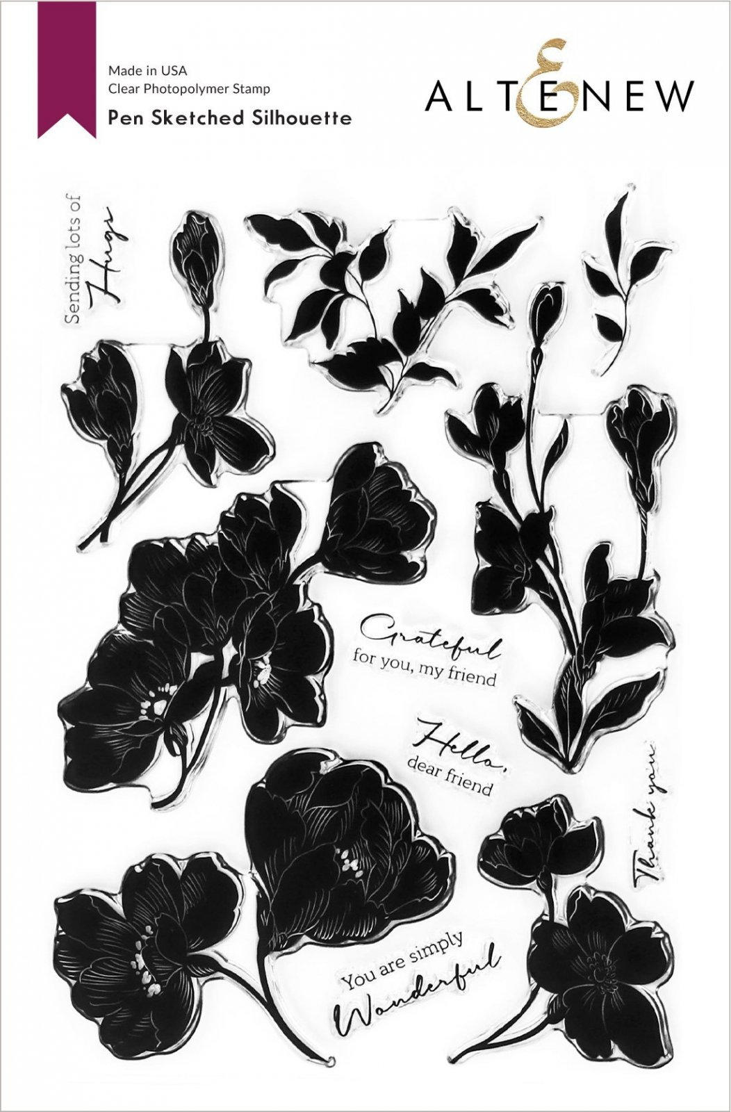 Altenew -  Clear Photopolymer Stamp & Die Set -  Pen Sketched Silhouette