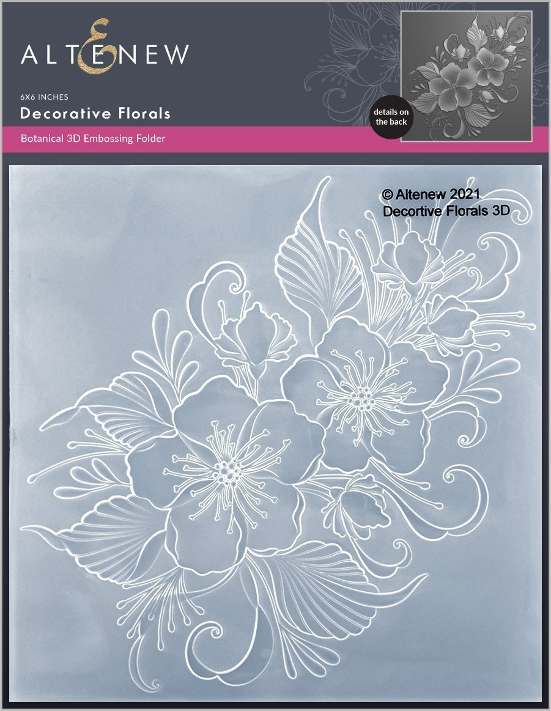 Altenew -  3D Embossing Folder - Decorative Florals