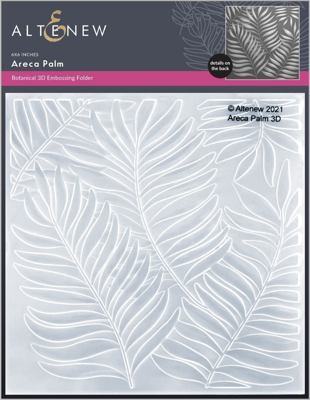 Altenew -  3D Embossing Folder - Areca Palm