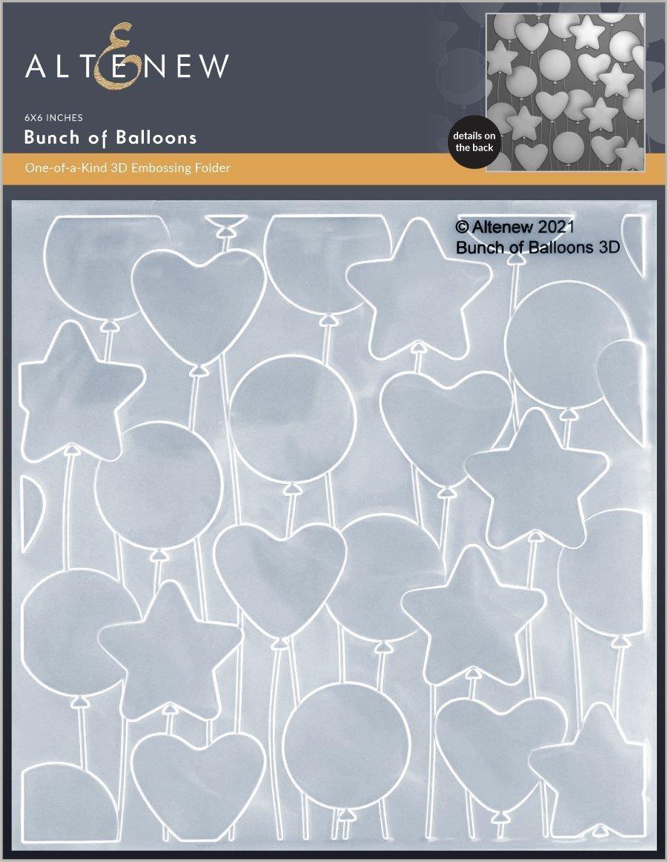 Altenew -  3D Embossing Folder - Bunch of Balloons