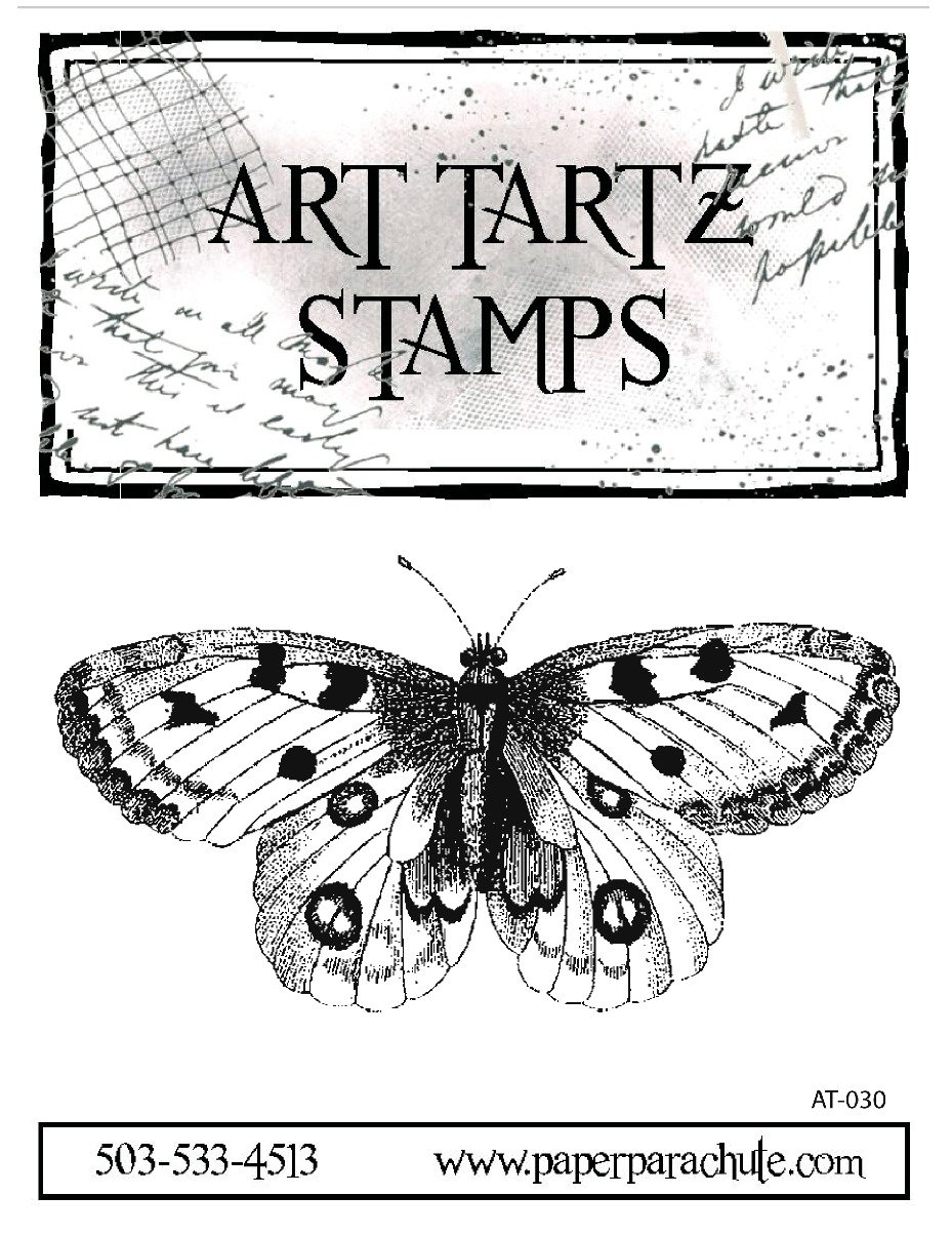 Art Tartz Rubber Stamp - Large Butterfly