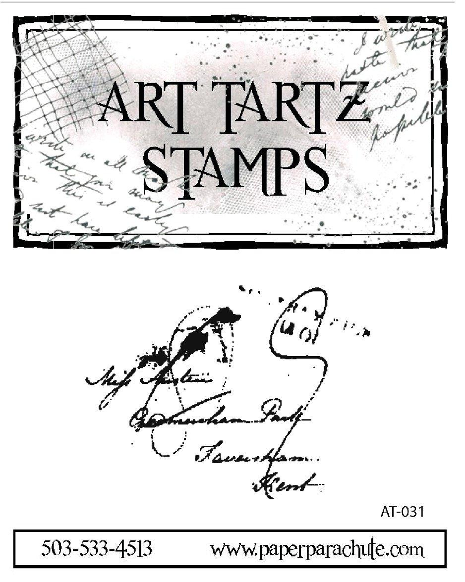 Art Tartz Rubber Stamp - Script