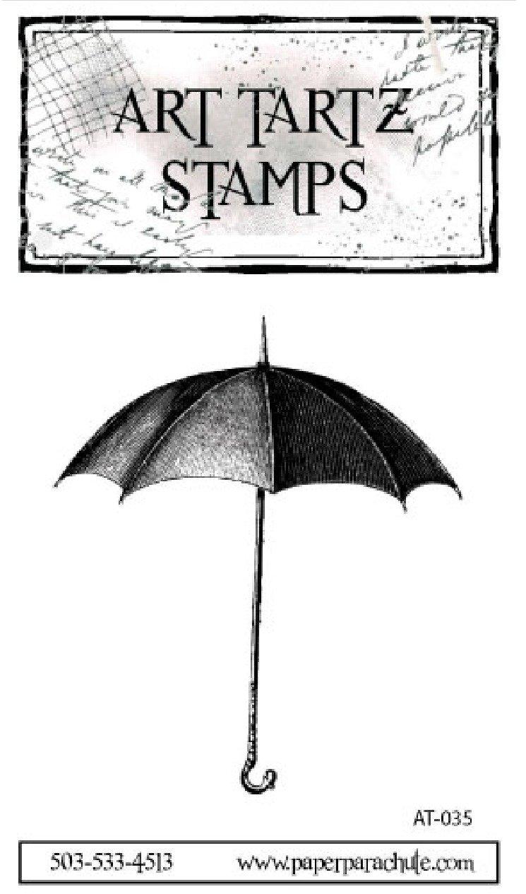Art Tartz Rubber Stamp - Umbrella