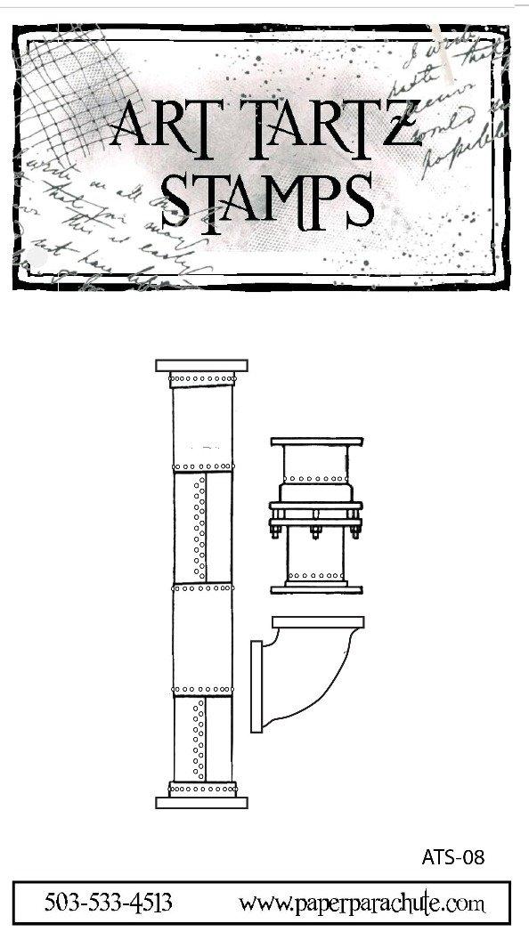 Art Tartz Rubber Stamp Set - Pipe