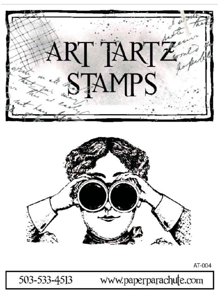 Art Tartz Rubber Stamp - Binocular Woman