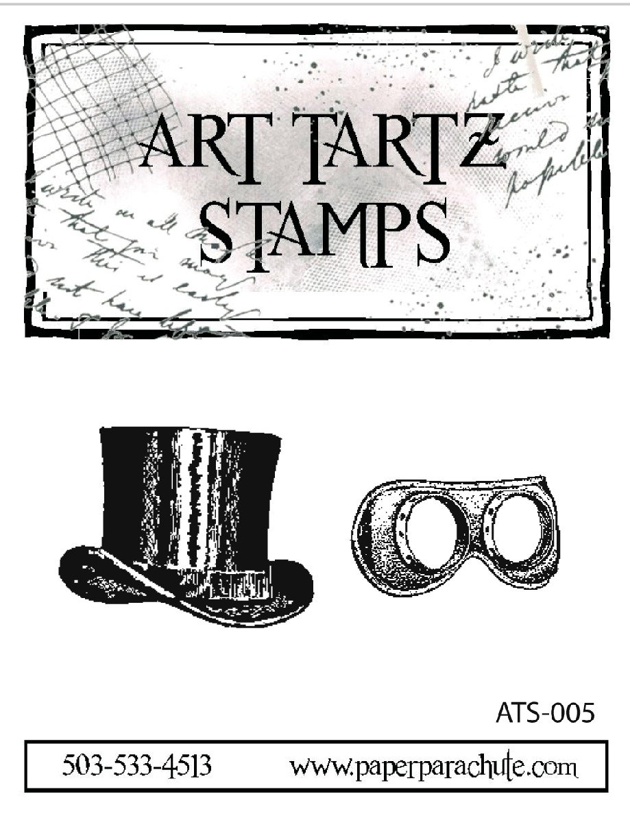 Art Tartz Rubber Stamp Set - Hat & Googles