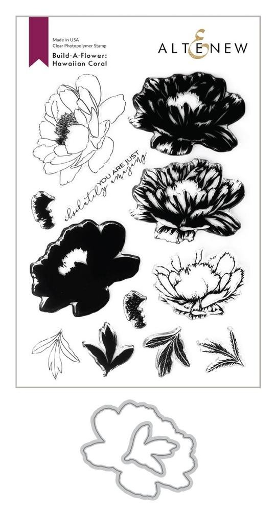 Altenew -  Clear Photopolymer Stamps -  Build-A-Flower: Hawaiian Coral