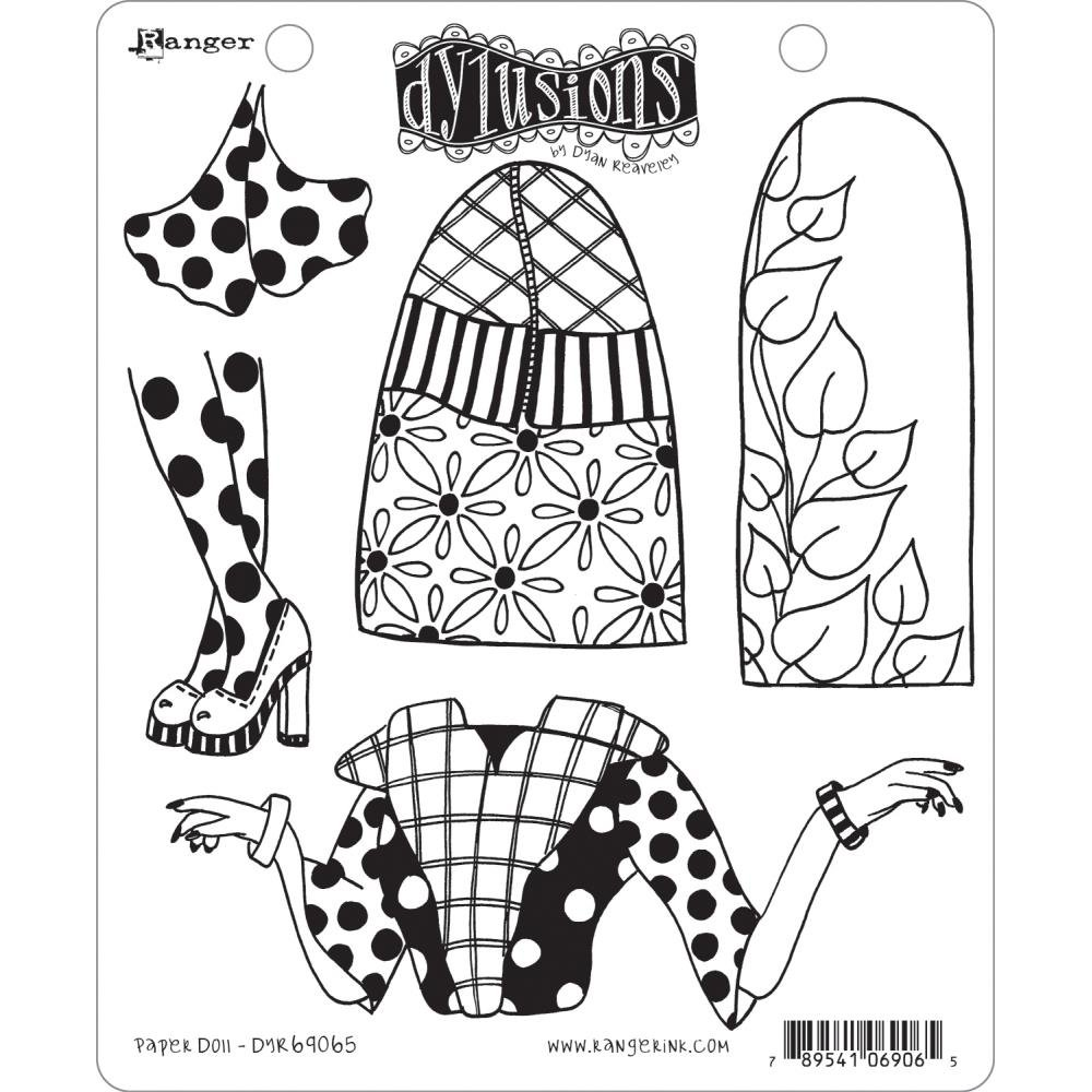 Dyan Reaveley's Dylusions Cling Stamp Collections 8.5X7-Paper Doll