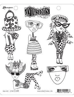Dyan Reaveley's Dylusions Cling Stamp Collections 8.5X7-Mini Me
