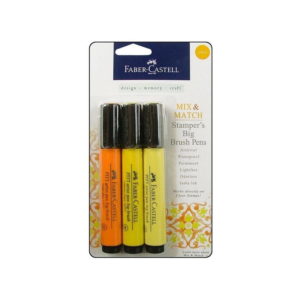 Stamper's Big Brush Pen 3/Pkg-Yellow