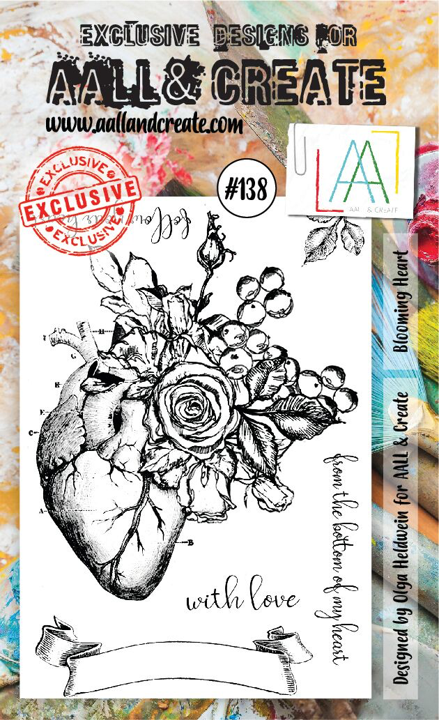 AALL & Create - Stamps - #138 Blooming Heart