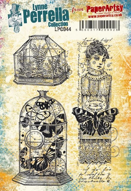 PaperArtsy - Lynne Perrella 44 - Rubber Cling Mounted Stamp Set