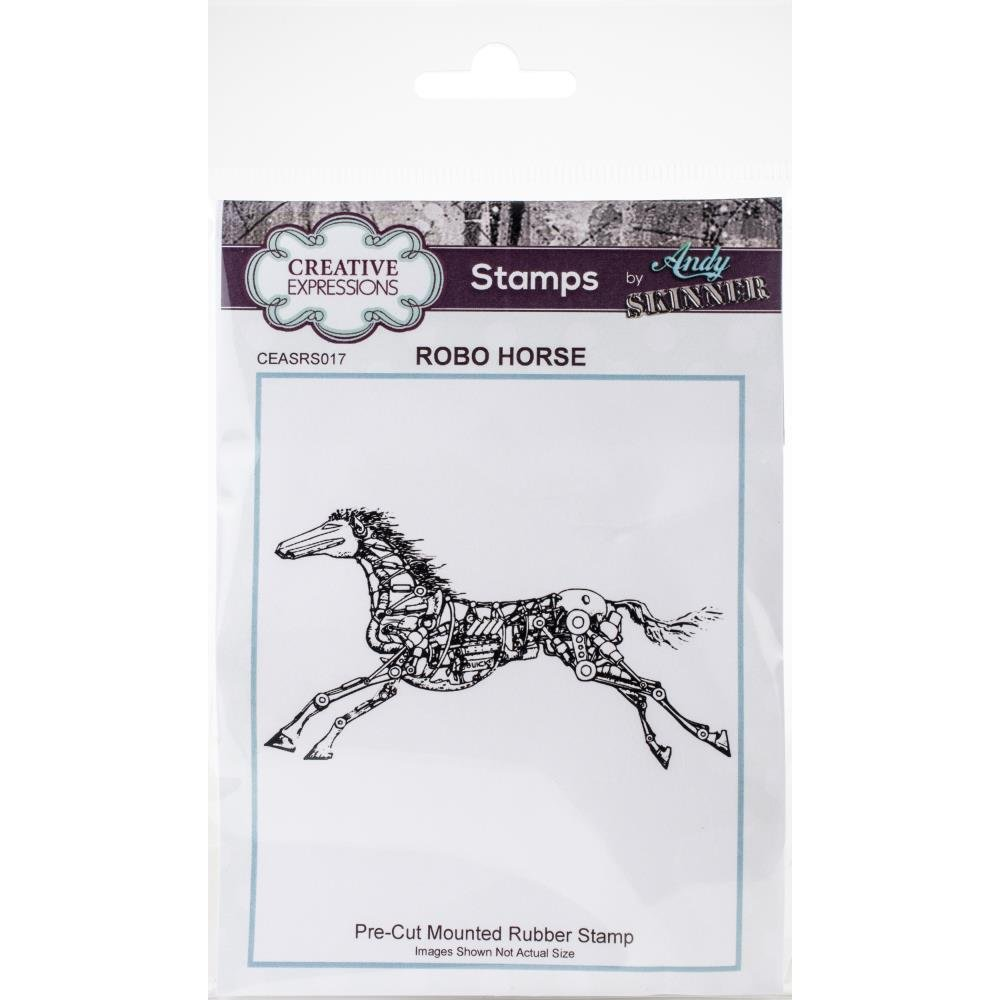 Creative Expressions Rubber Stamp By Andy Skinner-Robo Horse