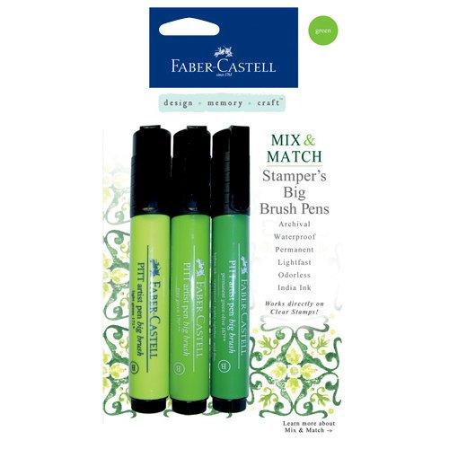 Stamper's Big Brush Pen 3/Pkg-Green