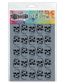 Dyan Reaveley's Dylusions Stencils 5X8-Skulls