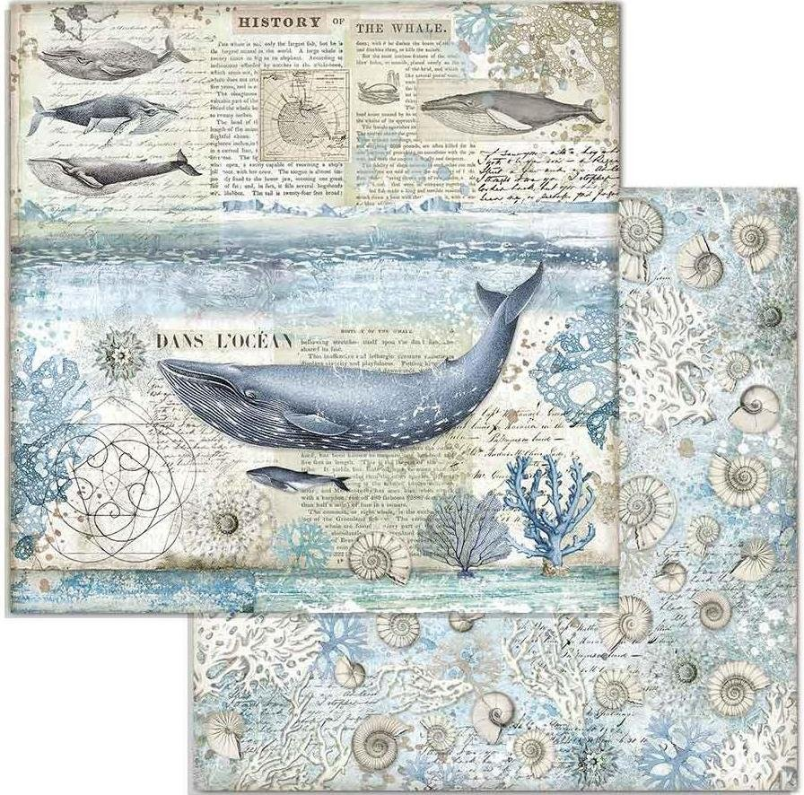 Stamperia Double-Sided Cardstock 12X12-Whale Arctic Antarctic