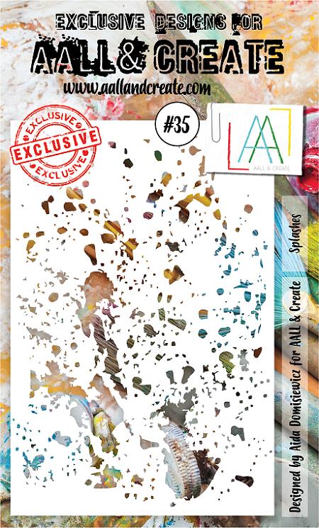 AALL & Create - Stencil - #35 Splashes