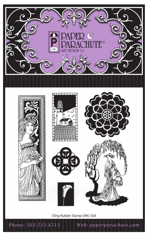 Paper Parachute Rubber Stamp Set - UMC026