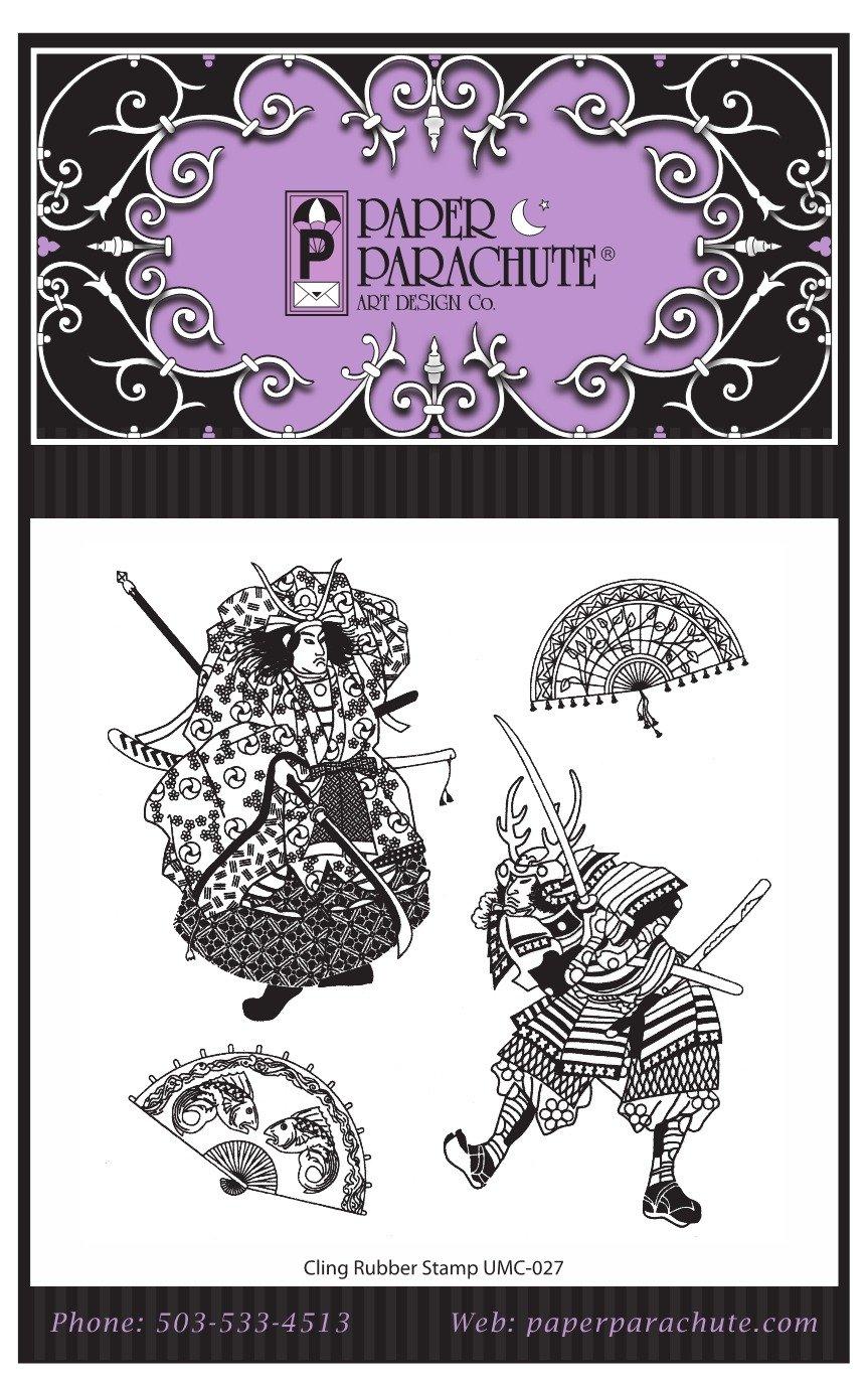Paper Parachute Rubber Stamp Set - UMC027