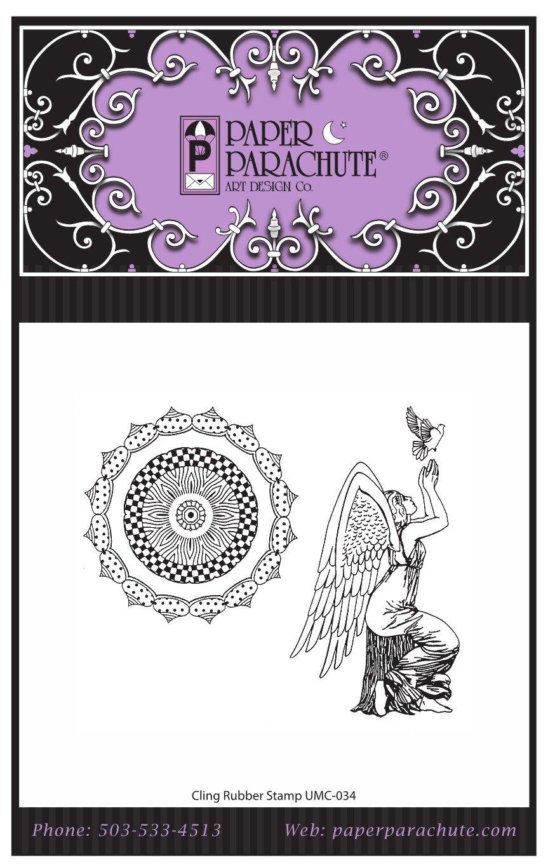 Paper Parachute Rubber Stamp Set - UMC034