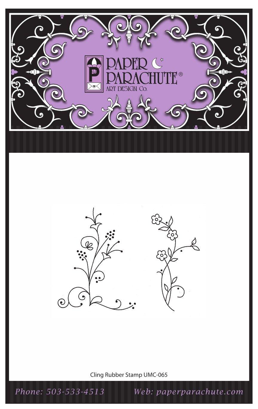 Paper Parachute Rubber Stamp Set - UMC065