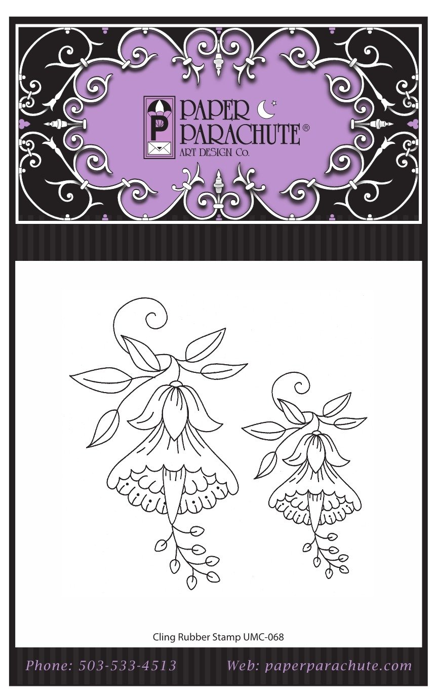 Paper Parachute Rubber Stamp Set - UMC068