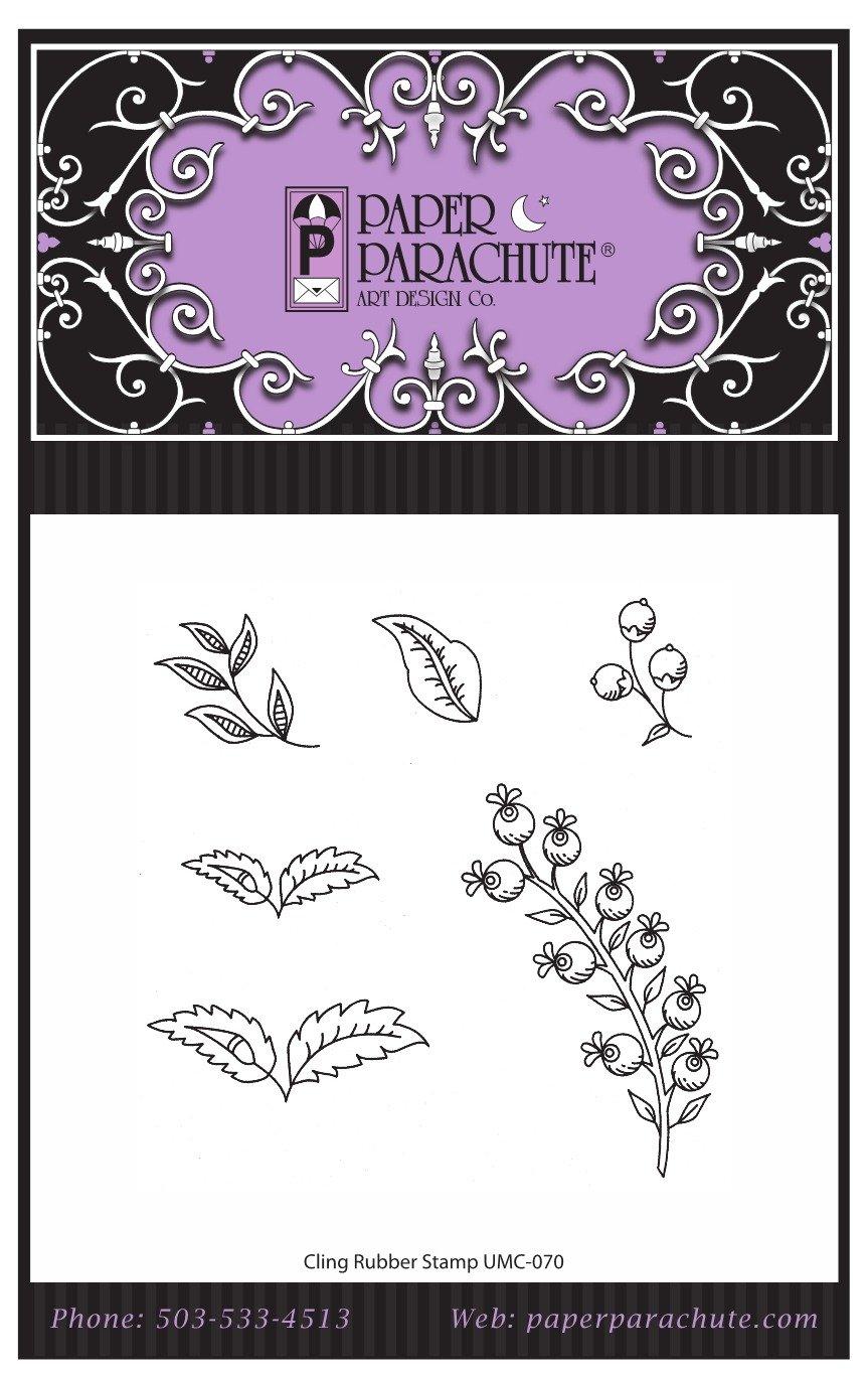 Paper Parachute Rubber Stamp Set - UMC070