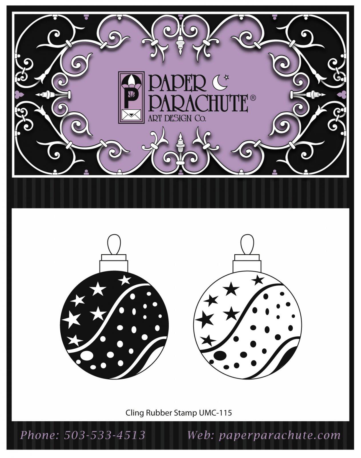 Paper Parachute Rubber Stamp Set - UMC115