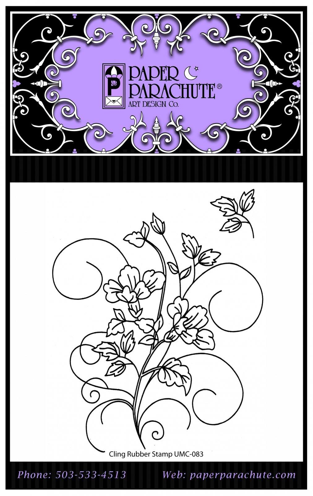 Paper Parachute Rubber Stamp Set - UMC083