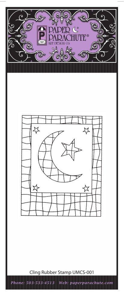Paper Parachute Rubber Stamp - UMCS01